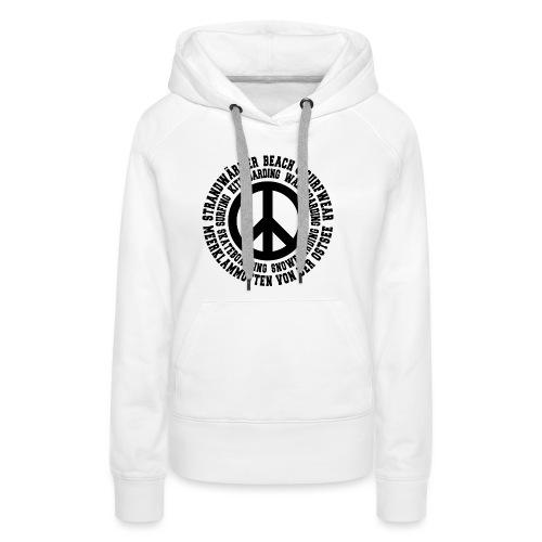 StrandWärmer_Kreis_Peace_schwarz - Frauen Premium Hoodie