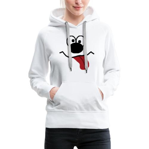 Funny Cartoon Face dunk tongue sticking out - Women's Premium Hoodie