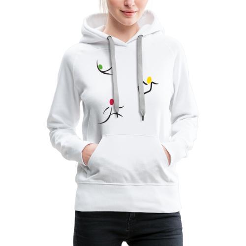 design bonhommes sans logo 4000x4000px - Sweat-shirt à capuche Premium pour femmes