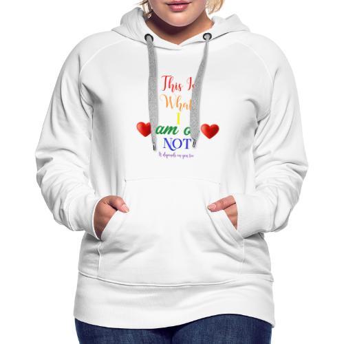 amor deux coeurs - Sweat-shirt à capuche Premium pour femmes