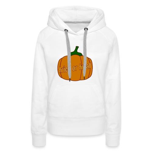 Halloween trick or treat und Kürbis - Frauen Premium Hoodie