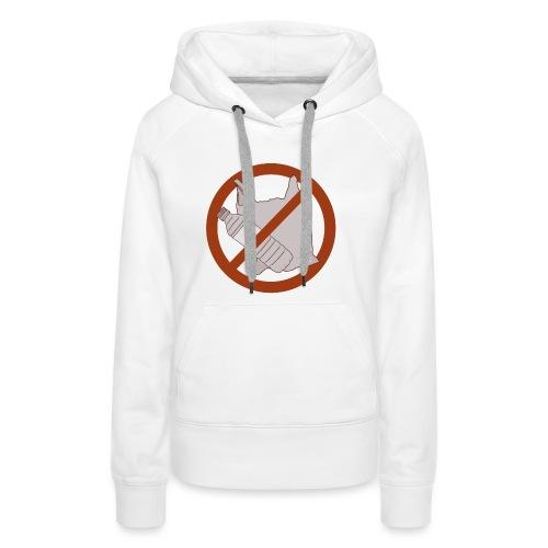 No Plastic Warnschild Umweltschutz - Frauen Premium Hoodie