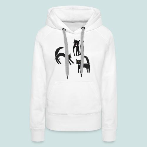 Black and White Tuxedo Cats - Women's Premium Hoodie