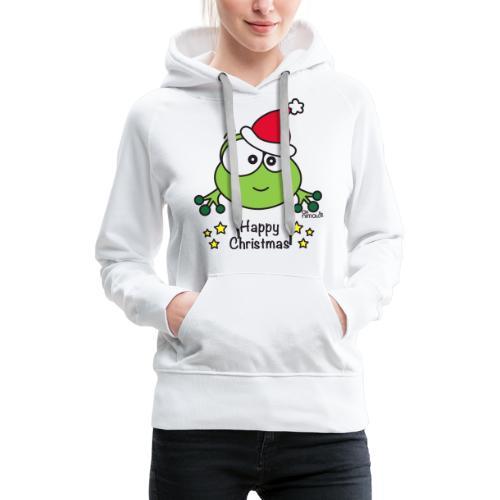 Grenouille, Frog, Fêtes Nôel, Happy Christmas - Sweat-shirt à capuche Premium pour femmes