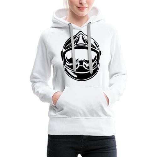 casque_face_2 - Sweat-shirt à capuche Premium pour femmes