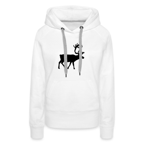 16593-illustrated-silhouette-of-a-reindeer-pv - Premiumluvtröja dam