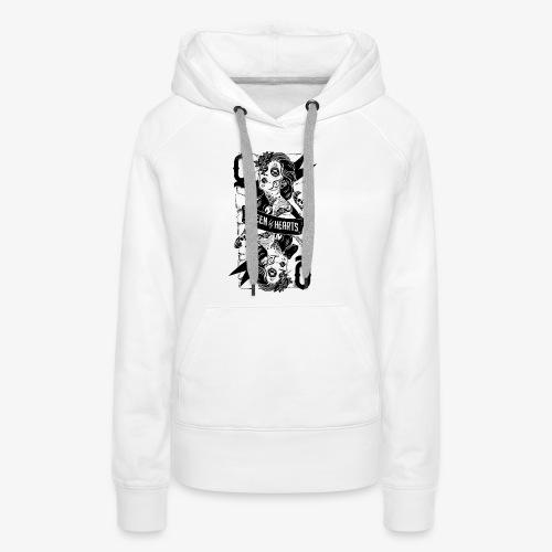 Reine de soles / Queen of Hearts - Sweat-shirt à capuche Premium pour femmes
