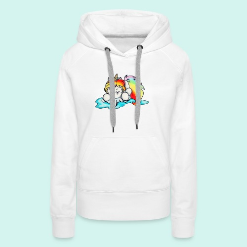 Baby unicorn - Felpa con cappuccio premium da donna