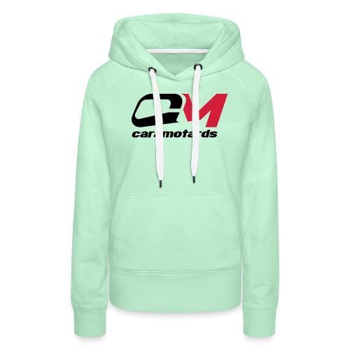 logo blanc cm2012 - Sweat-shirt à capuche Premium pour femmes