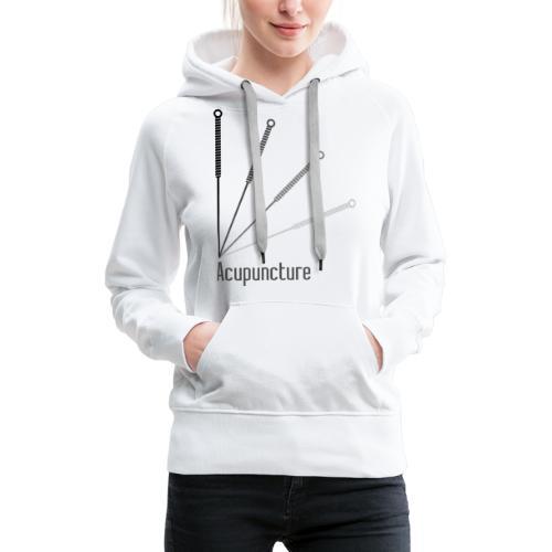 Acupuncture Eventail (logo noir) - Sweat-shirt à capuche Premium pour femmes