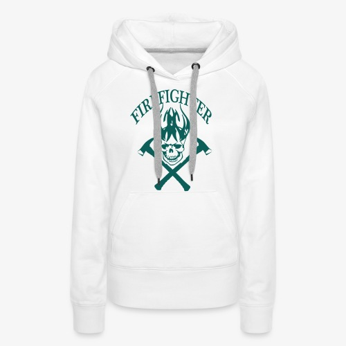 firefighter - Sweat-shirt à capuche Premium pour femmes