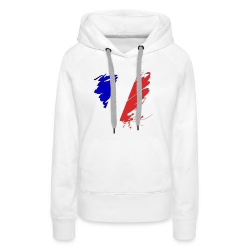 Herz Cœur France Frankreich Grande Nation Rotwein - Women's Premium Hoodie