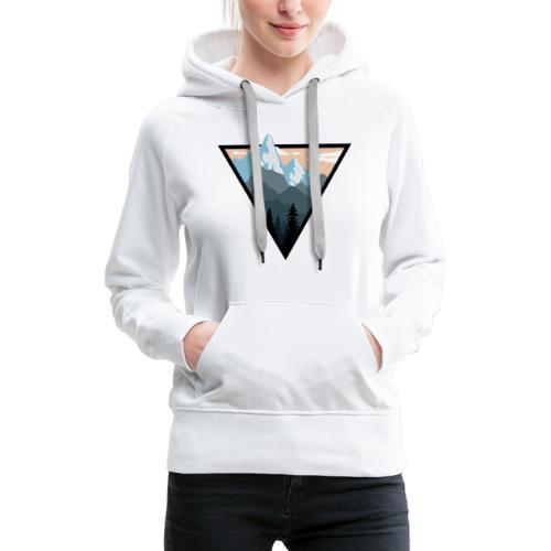 Logo montagne - Sweat-shirt à capuche Premium pour femmes