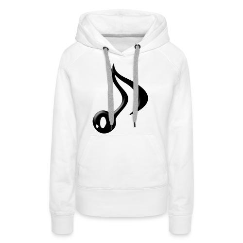 logo adhoc png - Sweat-shirt à capuche Premium pour femmes