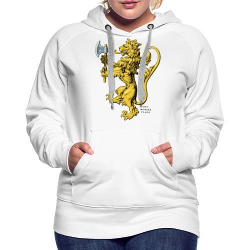 Den norske løve i gammel versjon - Premium hettegenser for kvinner