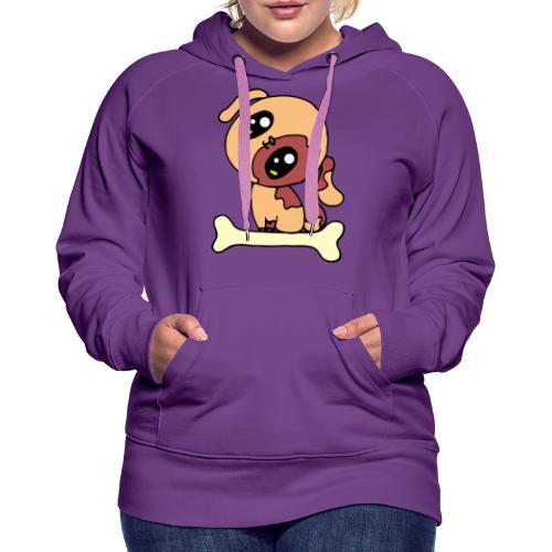 Kawaii le chien mignon - Sweat-shirt à capuche Premium pour femmes