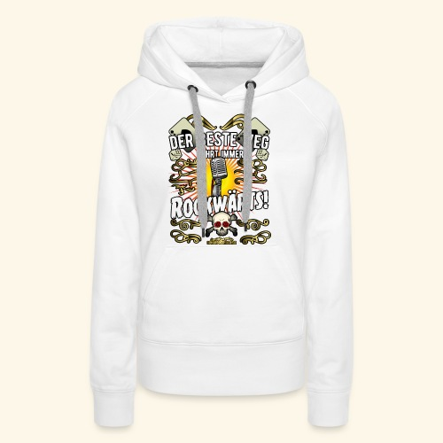 Rock Music Shirt ROCKWÄRTS - Frauen Premium Hoodie