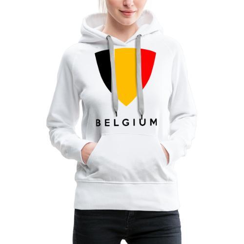 Bouclier de Belgique 2021 - Sweat-shirt à capuche Premium pour femmes