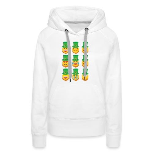 Awesome Leprechaun Emoji St. Patty's Green Feast B - Women's Premium Hoodie