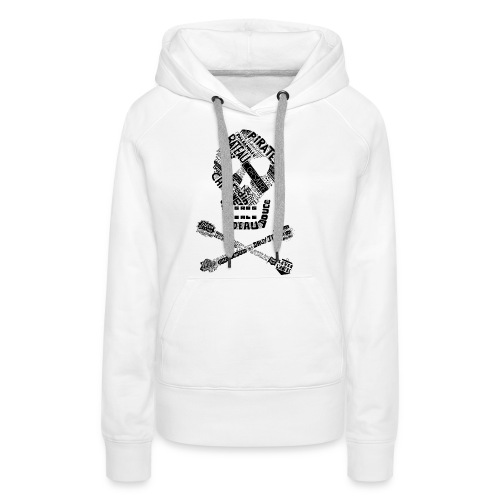 Tête de mort mots - Sweat-shirt à capuche Premium pour femmes