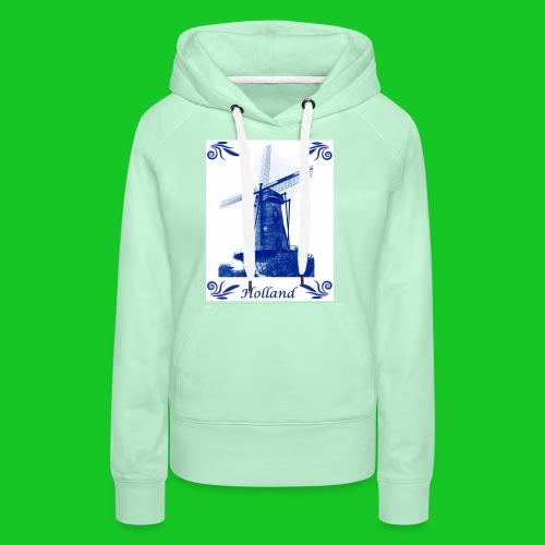 Delfts Blauw Molen - Vrouwen Premium hoodie