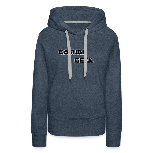 CasualGeek Standard Logo - Women's Premium Hoodie