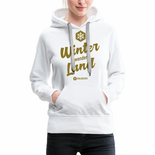 Winter Wonder Land - Naisten premium-huppari