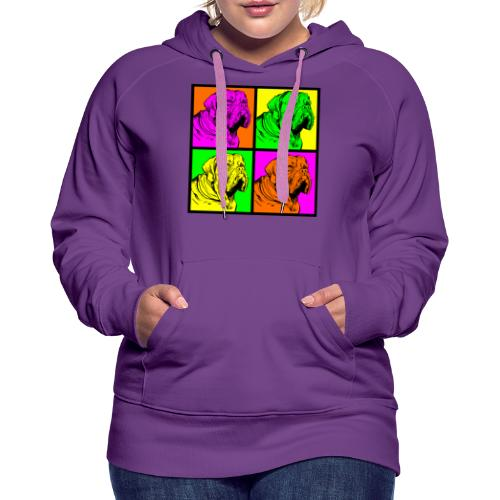 Bouledogue Anglais Couleur - Sweat-shirt à capuche Premium pour femmes