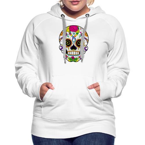 skull3 - Felpa con cappuccio premium da donna