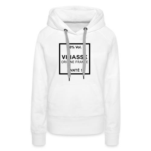 Vin ou vinasse origine France - Sweat-shirt à capuche Premium pour femmes