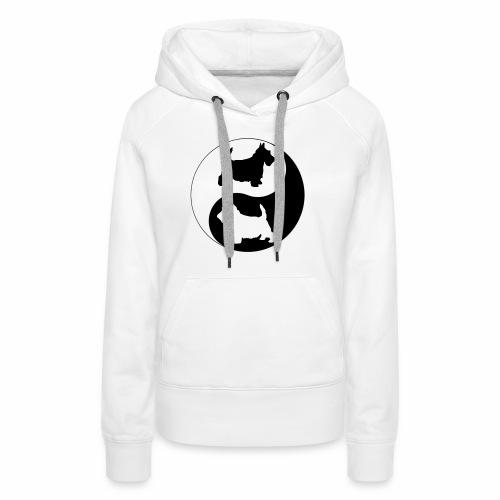 yin yang scotties the perfect balance - Women's Premium Hoodie