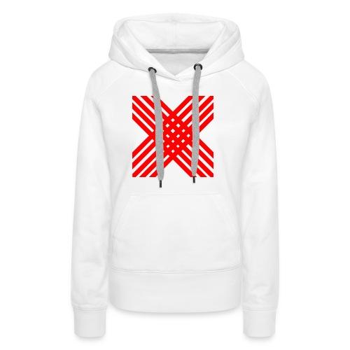 X de rallas - Sudadera con capucha premium para mujer