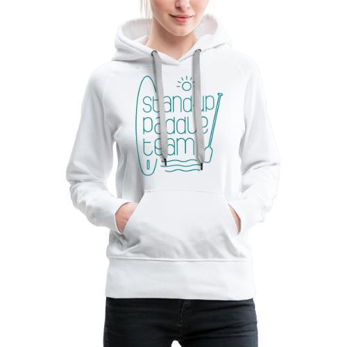 Stand-up paddle team - Sweat-shirt à capuche Premium pour femmes