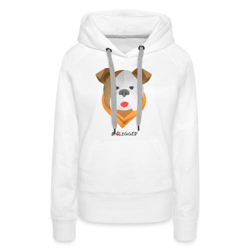 Bulldog - Felpa con cappuccio premium da donna