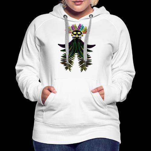 L'oiseau paradis néon - Sweat-shirt à capuche Premium pour femmes