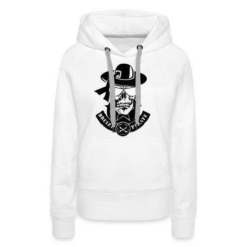 renegade breizh pirate gang tete de mort crane - Sweat-shirt à capuche Premium pour femmes