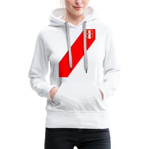 Seleccion peruana de futbol (Recto-verso) - Sweat-shirt à capuche Premium pour femmes