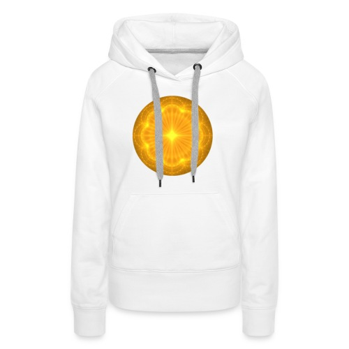 Golden Radiance Mandala Heart - Vrouwen Premium hoodie