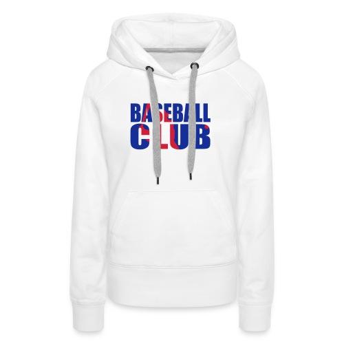 Baseball club logo shad - Sweat-shirt à capuche Premium pour femmes