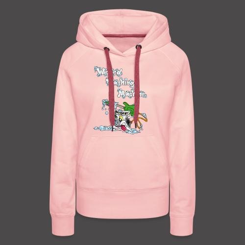 Wicked Washing Machine Cartoon and Logo - Vrouwen Premium hoodie