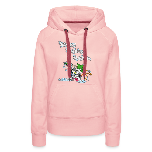 Wicked Washing Machine Cartoon and Logo - Vrouwen Premium hoodie