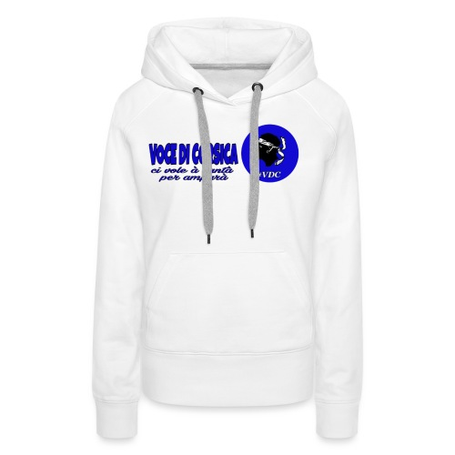 Voce di Corsica logo 1 - Sweat-shirt à capuche Premium pour femmes