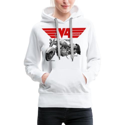 V4 Motorcycles red Wings - Frauen Premium Hoodie