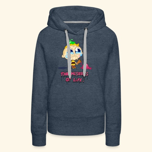 The Miseries of Life Eiscreme Eis Kind - Frauen Premium Hoodie