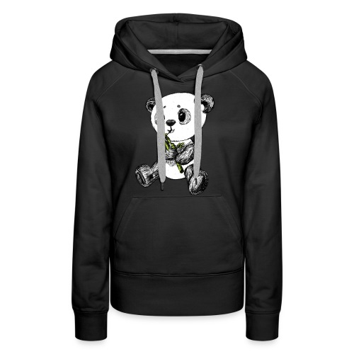 Panda Karhu värillinen scribblesirii - Naisten premium-huppari