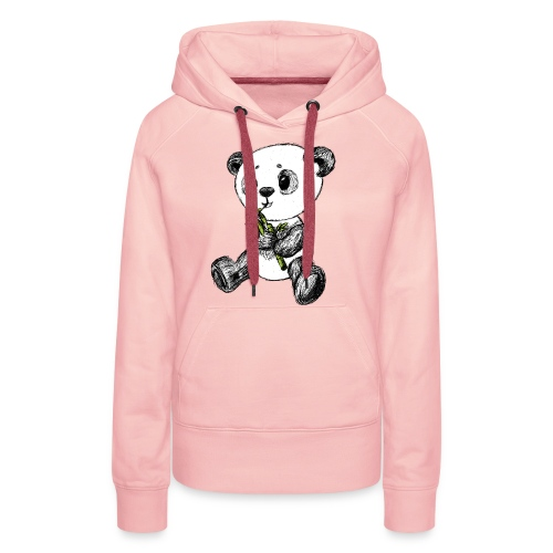 Panda bear colored scribblesirii - Women's Premium Hoodie