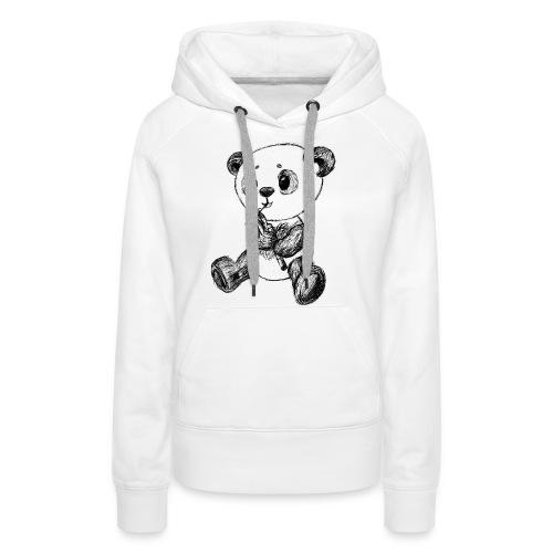 Panda Karhu musta scribblesirii - Naisten premium-huppari
