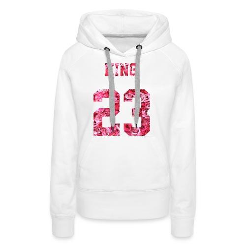 KING 23 PINK ROSES.png - Frauen Premium Hoodie
