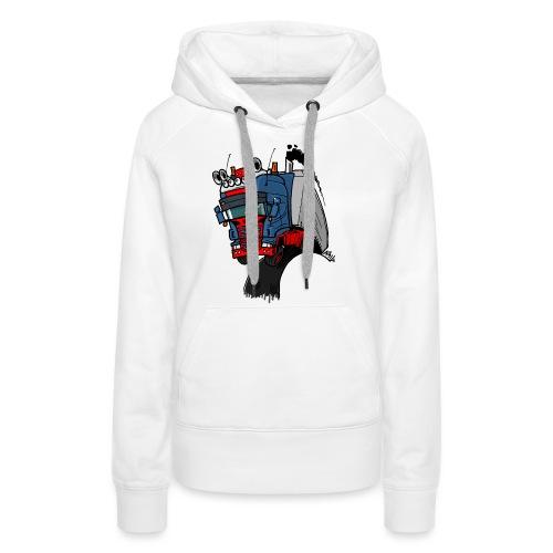 The flying skane man notext - Vrouwen Premium hoodie