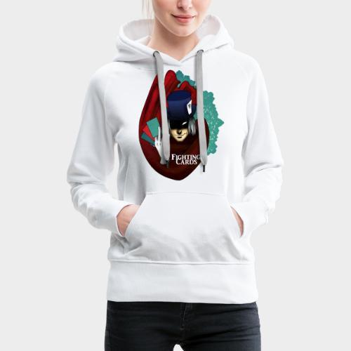 Fighting cards - Magicien - Sweat-shirt à capuche Premium pour femmes
